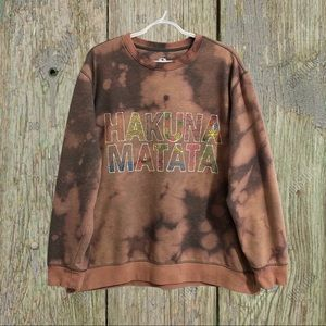 "Custom ""hakuna matata"" crew neck sweatshirt."